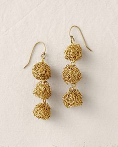 Sarah Cavender Thistle Earrings