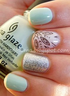 My favorite things: Tiffany blue and glitter!
