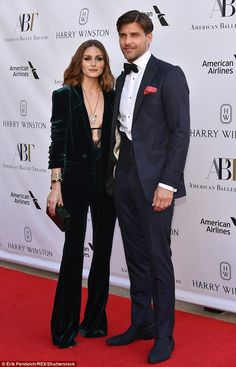 She added flared trousers and accessorized with a statement pendant and bangles. She was accompanied by her German model husband Johannes Huebl