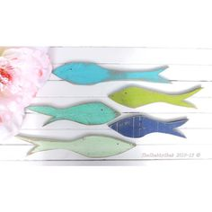 Wood Fish Wall Decor Coastal Decor Wooden Fish Beach House Wall Fish... (€41) ❤ liked on Polyvore featuring home, home decor, home & living, home décor, silver, wall décor, wall hangings, blue home decor, sea glass home decor and coastal home decor