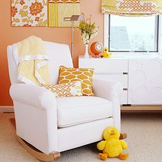 A comfy rocking chair is essential in any nursery.