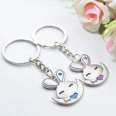 Personalized Sweet Rabbit Keyring Favor (Set of 6 Pairs)