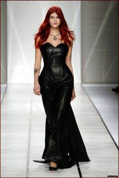 black leather wedding dress