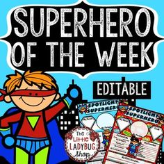 Superhero Theme • Student Of The Week Poster • Editable
