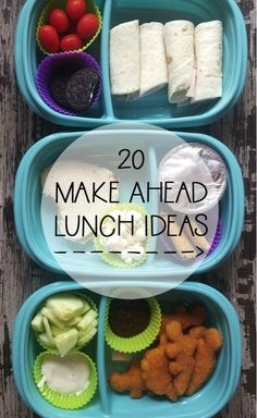 20 Make Ahead Lunch Ideas - healthy lunch ideas easy - Bento Ideas Lunch Snacks, Lunch Recipes, Healthy Snacks, Cooking Recipes, Kid Snacks, Easy Recipes, Whats For Lunch, Lunch To Go, Lunch Box