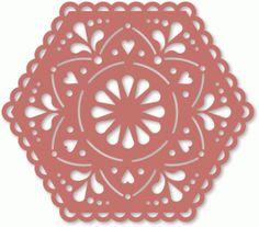 Silhouette Design Store - View Design #59962: lacy hexagon flower mat