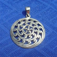 Celtic Unisex Pendant WATER Sign in Sterling by CharmAndChain, $32.75