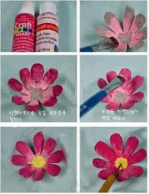 *Decoração e Invenção*: Flores com caixas de ovos