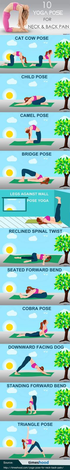 11 easy Yoga pose for neck and back pain to feel more active. Simple Yoga Pose f...