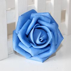 100PCS Foam Rose Flower Bud Wedding Party Decorations Artificial Flower Diy Craft Royal Blue #Affiliate