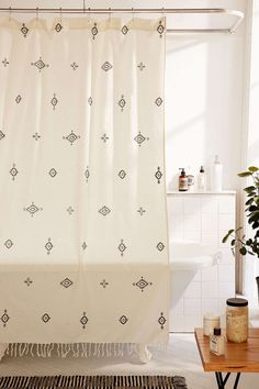 4040 Locust Toures Shower Curtain - Urban Outfitters