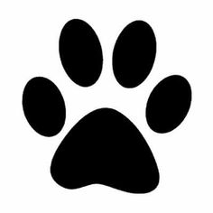 Agile image with regard to dog paw print stencil printable free