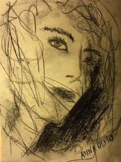 Anna Olmo, graffite e carboncino su carta, 30x40