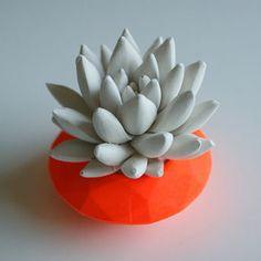 Orange Planter #orange #planter #deco #design #geometric
