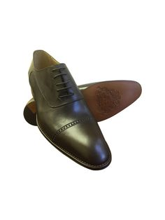 awesome SOLID CHOCOLATE BROWN LEATHER CAP TOE OXFORD