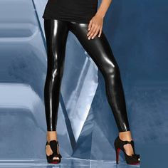 Sexy Black Patent Leggings(2 Pairs) $14.99 at  http://www.wendybox.com