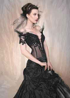 Wonderful black dress, and I particulalry love the top (from Cherie Sposa)