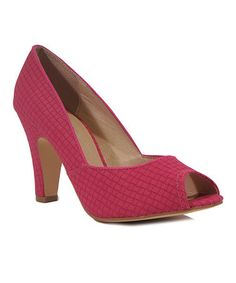 Another great find on #zulily! Fuchsia Exotic Pump by Chelsea Crew #zulilyfinds