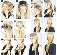 Elsa from Frozen - hair tutorial Step By Step Hairstyles, Pretty Hairstyles, Braided Hairstyles, Wedding Hairstyles, Frozen Hairstyles, Frozen Hair Tutorial, Video Daddy, Hair Styles 2014, Long Hair Styles