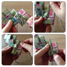 Candywrapper.dk Recycled Plastic Bags, Recycled Crafts, Diy And Crafts, Paper Crafts, Origami Paper Art, Paper Weaving, Modular Origami, Candy Wrappers, Paper Folding
