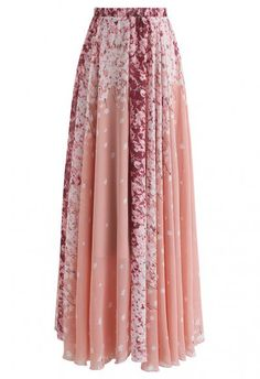 Cherry Blossom Watercolor Chiffon Maxi Skirt - Retro, Indie and Unique Fashion 32 Classy Pleated Dress Outfit Ideas For Fall And Winter Season Unique Fashion, Fashion Looks, Fashion Vintage, Cherry Blossom Watercolor, Cherry Blossom Dress, Cherry Blossoms, Floral Watercolor, Fashion Models, Fashion Outfits