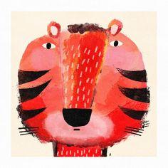 Tiger Illustration, Childrens Book Illustration, Tiger Art, Digital Print, Portrait, Tigger, Disney Characters, Fictional Characters, Anna