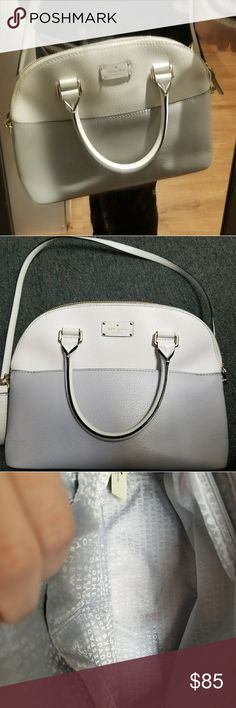 KATE SPADE medium size purse Used a couple of times, outside condition is  perfect, there's a lipstick stain on the inside pocket,(see on photos) which can still be clean, (i just don't know which one to use). 😊😉🤗😘 kate spade Bags Crossbody Bags