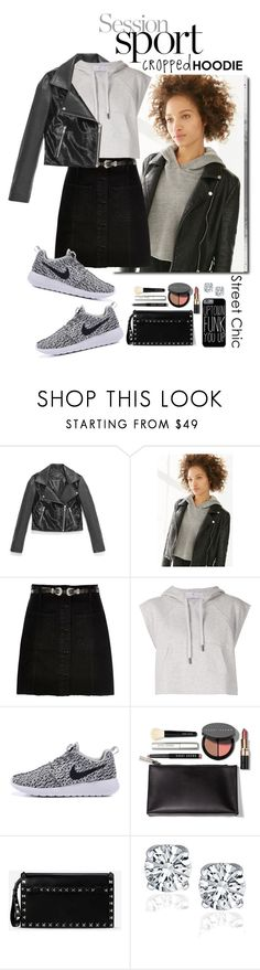 """""""Cute Trend: Cropped Hoodies"""" by shortyluv718 ❤ liked on Polyvore featuring Andrew Marc, Truly Madly Deeply, River Island, adidas, Bobbi Brown Cosmetics, Valentino and CroppedHoodie"""