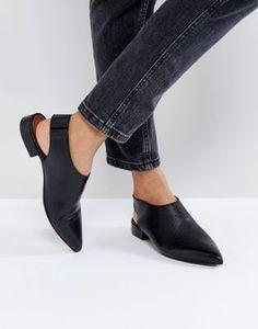 ASOS MISCHIEF Premium Leather Flat Shoes