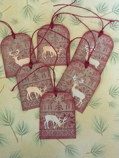 Rustic deer gift tags