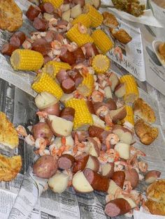Low Country Boil  My Mama made this the first time my now husband came to meet them.  He thought it sooo strange, coming from Canada. VERY southern, he said.  But he always talks about it and how GOOD it was!