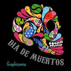 Dia de los muertos/Day of the Dead~art Mexico Day Of The Dead, Day Of The Dead Art, Mexican Crafts, Mexican Folk Art, Cuban Art, Sugar Skull Art, Sugar Skulls, Holiday Day, Candy Skulls