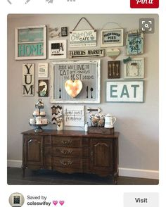 I had a family friend encourage me to post my kitchen gallery wall and share it on #Pinterest Why am I so nervous. I'm totally putting my style out there for the world to see
