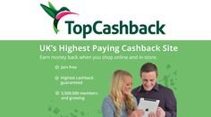 A great way to make some extra cash easily. Just sign up by clicking vist and start earning cashback instantly, whilst also getting a free £5 M&S eGift Card (after receiving £10 Cashback). No sign up fees either. Whenever you are thinking of buying something, go through the TopCashback site and earn cashback for your purchases, what could be easier! :). The more you shop, the more money you'll make.  Average yearly payout is £356. #Cashback #TopCashback #MakingMoney #Money #EasyMoney