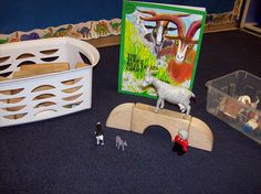 Three Billy Goats Gruff in the construction center