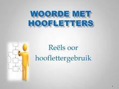 WOORDE MET HOOFLETTERS> Afrikaans, Spelling, Company Logo, Logos, Logo, Games