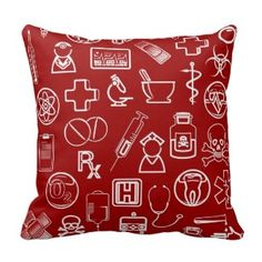Browse our amazing and unique Cute wedding gifts today. Red Throw Pillows, Decorative Throw Pillows, Medical Icon, Designer Pillow, Sentimental Gifts, White Patterns, Icon Design, Wedding Gifts, Red And White