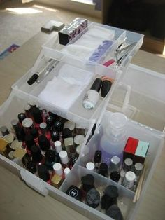 Nail polish portable storage caddy (Container Store)