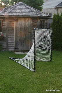 Full of Great Ideas: How to build a PVC lacrosse net