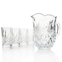 Jeffrey Banks 5-piece Crystal Beverage Set at HSN.com.  Absolutely beautiful!  Great price for crystal!