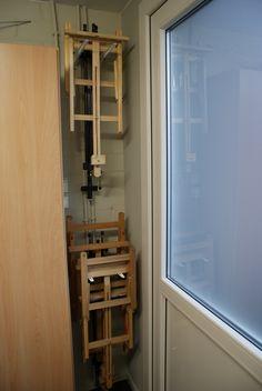 Opbergen schildersezels / Storage art easel (eenvoudig met muurhaken)