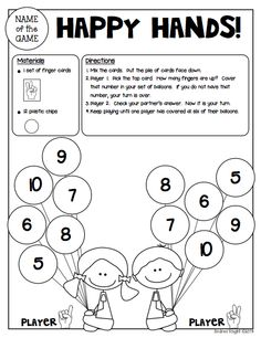"Sample Math Game from ""Math Games for Kinder Partners"" {20 Reproducible and Reusable Partner Games for Math Workshop, Centers, and/or Homework Fun with a Parent}  36 pages, $"