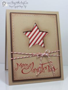 Stampin' Up! Sassy Salutations Die Cut Holiday Cards – Stamp With Amy K Christmas Cards 2018, Christmas Greetings, Merry Christmas, Holiday Cards, Christmas Paper Crafts, Homemade Christmas Cards, Homemade Cards, Christmas Projects, Stampin Up Weihnachten