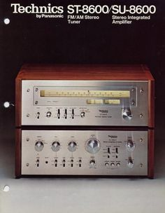 Technics SU-8600 amp and matching ST-8600 tuner. vintage gear