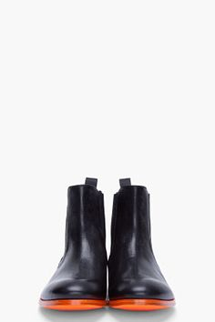 Stylish leather boots by Paul Smith (Black Otter Runway Boots) | Essentials (men's accessories), visit http://www.pinterest.com/davidos193/