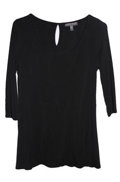f0599063313fc A PEA IN THE POD Maternity Black Jersey 3/4 Sleeve Scoop Neck Keyhole Back