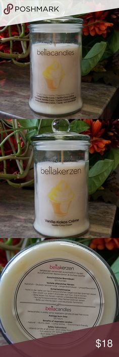 Home Candle Beautiful home candle, vanilla creme fragrance. Bella Candles are known for having rings inside each candle. Price of ring ranging from $20 - $1000 in price. Once candle has burned down to the ring, there is a code on the ring. Go to www.bellacandles.com and enter code to find out the value of the ring. Bella Candles Other