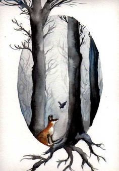 The Fairytale of Fox and Bat by ~Dasycneme