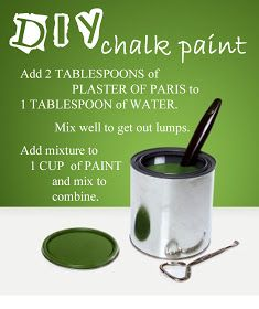 Diy Chalk Paint so I never have to look this up again.