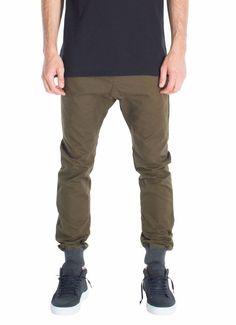 ZANEROBE NEW Men's Designer Dynamo Military Green Chinos Jogger Pants Bottoms 29 #ZANEROBE #KhakisChinos